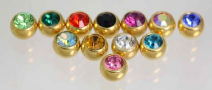 Gold Plated Threaded Gems